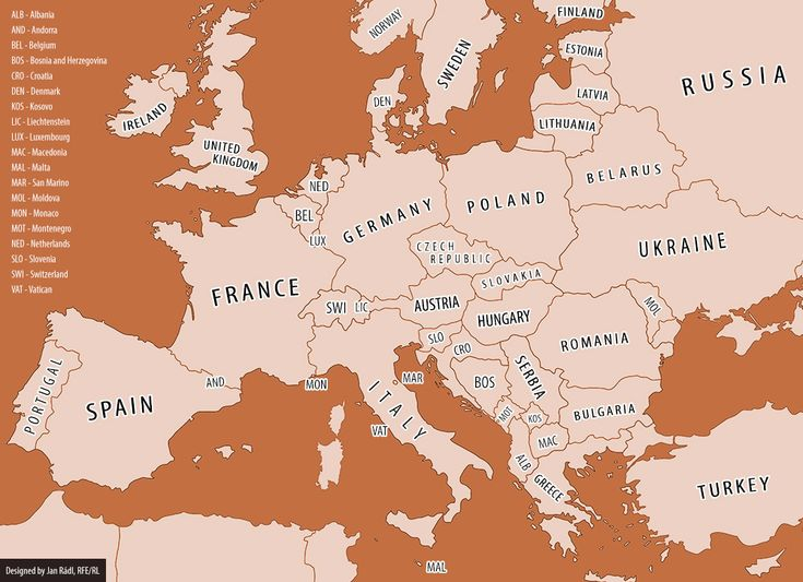 Map of Europe 1914-2014