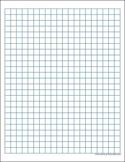 Blank Graph Paper Quadrant 1 Printable and Formats