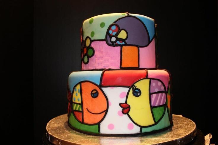 Romero Britto Cake by Sweet Heaven LLC