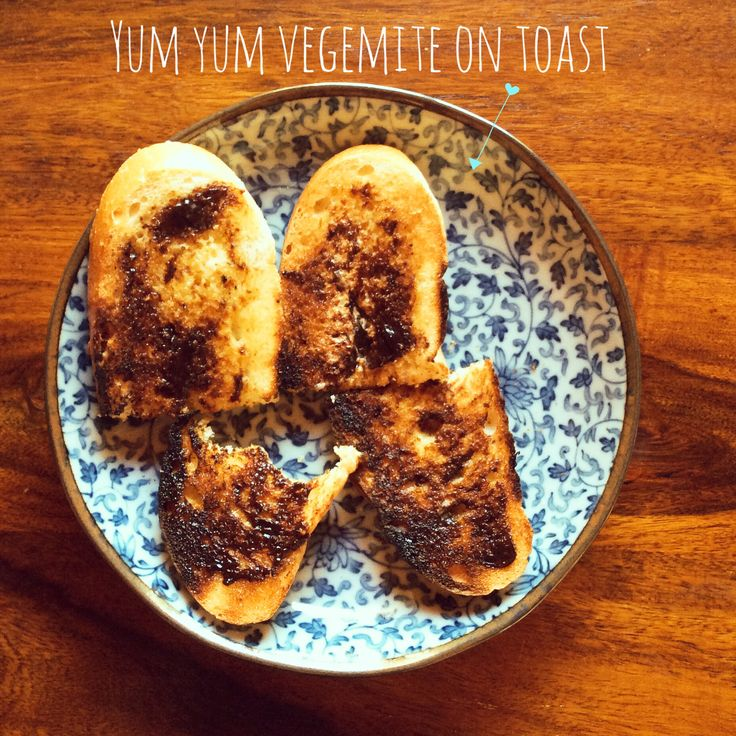 Great way to start the day, Vegemite on toast