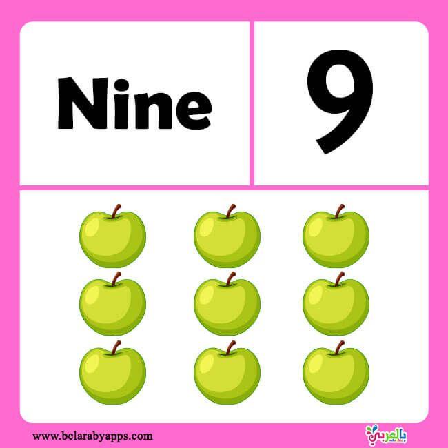 بطاقات تعليم الارقام الانجليزية للاطفال من 1 الى 20 بطاقات الارقام الانجليزية للاطفال بالعربي نتعلم Free Printable Worksheets Preschool Learning