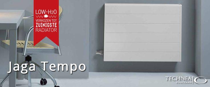 Jaga Tempo energiezuinig radiator. Werkt op lage temperatuur en is daardoor energiebesparend