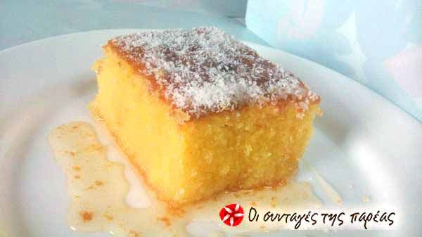 Coconut cake #cooklikegreeks #coconutcake #syrupysweets