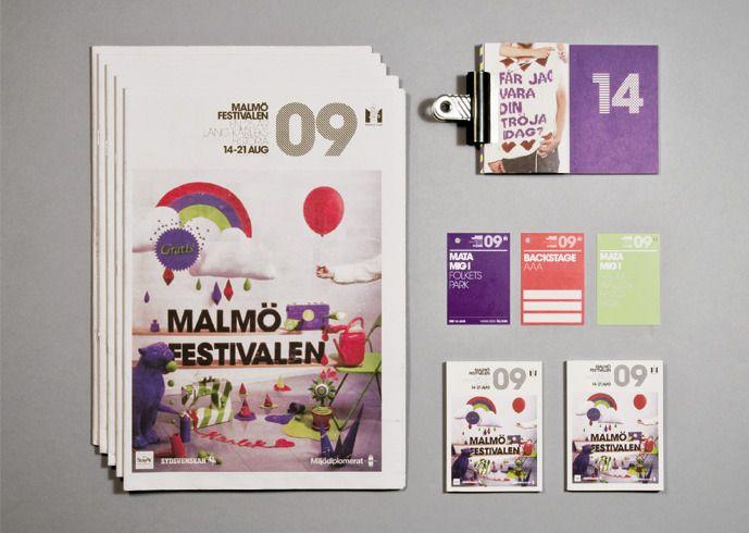 Revised branding and design built by hand, for Scandinavian city festival 2009