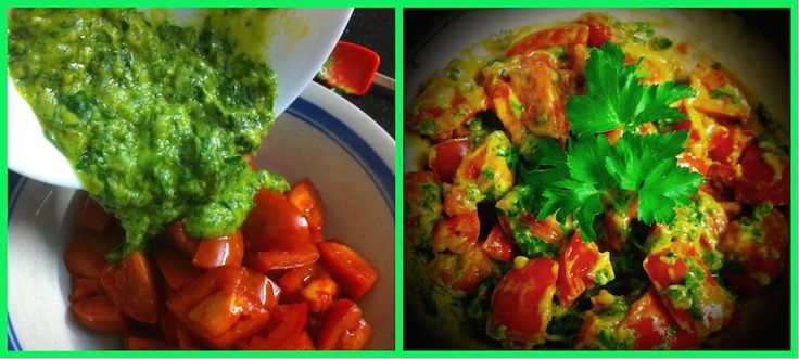 Tomato Salad with Avocado and Parsley Pesto! Check out our video expand pin!