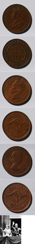 Three Monarchs of  Australia. Pre-decimal Coin
