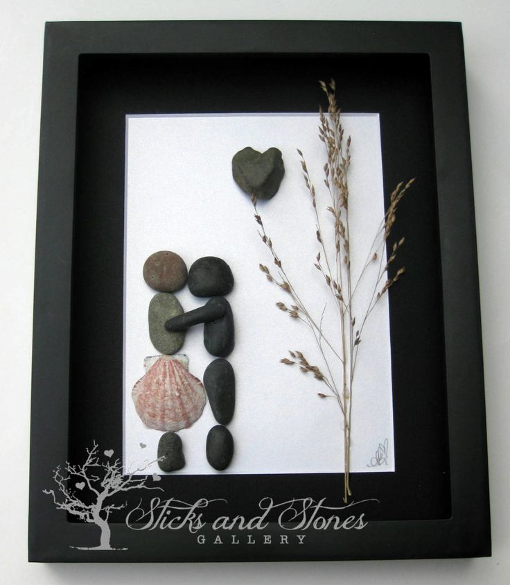 Pebble Art Couple's Gift -Couple's Home Decor -Unique Couple's Gift - Personalized Engagement Gift - Personalized COUPLE Gift - Wedding Gift by SticksnStone on Etsy