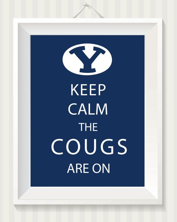 BYU & Utah College Football Keep Calm 8x10 Digital by simpdesigned