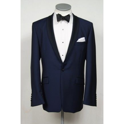 made to measure french blue dinner suit dj