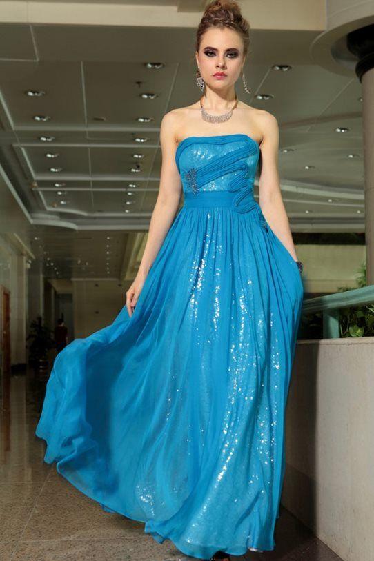 blue strapless evening gown  $359.00  FREE SHIPPING WORLDWIDE!  www.theformalshop.co.nz