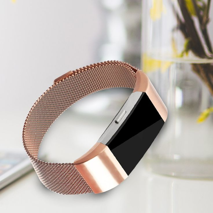 Fitbit Charge 2 Bands, Vancle Adjustable Milanese Loop Stainless Steel Metal Band Bracelet Strap with Magnetic Closure Clasp, No Buckle Needed for Fit Bit Charge 2 HR Fitness Tracker (Rose Gold, Small), Activity Trackers - Amazon Canada