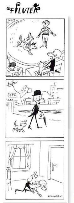 #Zbigniew #Lengren Небольшие #забавные #истории в виде #комиксов, #нарисованных #знаменитым #польским #художником-#карикатуристом #Збигневом #Ленгреном, о #приключениях #профессора #Филютека и его #Пса #Филюса #Professor #Filutek http://psychologieshomo.ru #