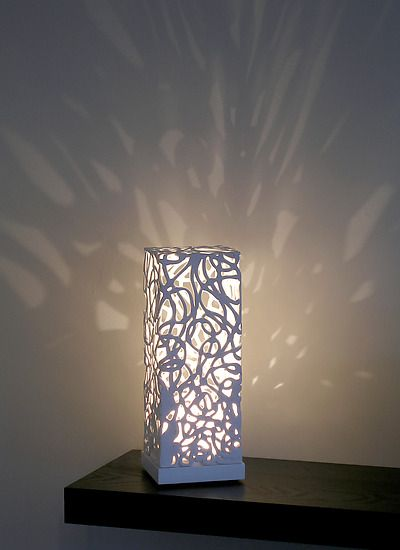 Curls Mini Luminaire: Muhammad Moussa: Ceramic Table Lamp - Artful Home