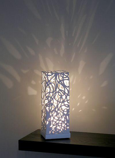 Curls Mini Luminaire: Muhammad Moussa: Ceramic Table Lamp - Artful Home