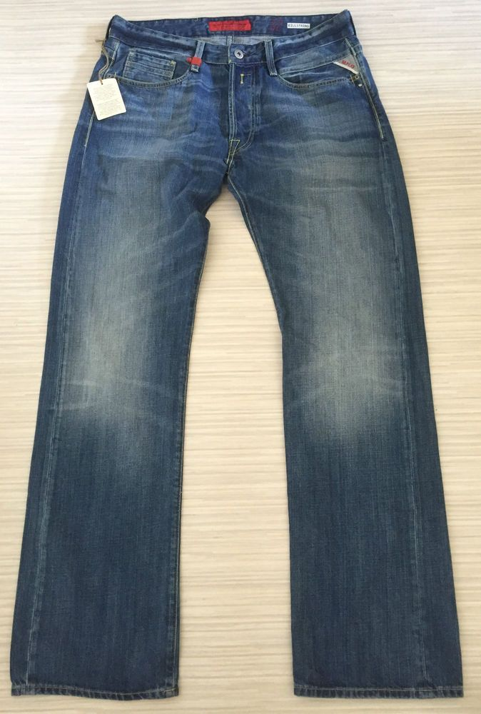 Mens Replay Jeans Billstrong 32 x 32 Straight Classic Fit  New  Tags Authentic