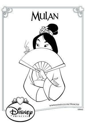The 46 best images about disney princess colouring pages for Princess mulan coloring pages