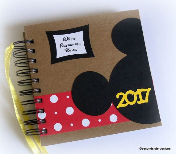 2017 80 pgs PERSONALIZED  Disney Autograph book and scrapbook mini album by secondsisterdesigns. New Year, New Memories!