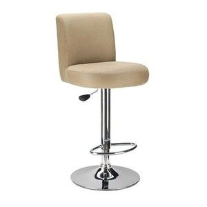 Jayden Microfiber Top Air Lift Adjustable Bar Stool in Brown