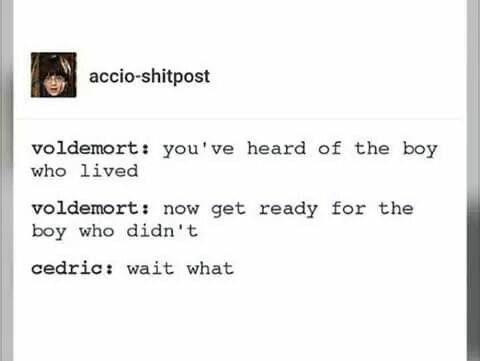 Cedric the boy who didn't