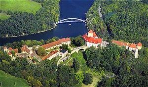 Brno Dam Lake and Veveří Castle, Czech Republic