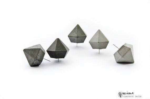Concrete Diamond Push Pins Set door PASiNGA