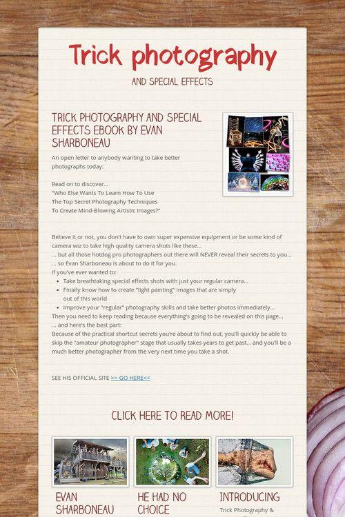 evan sharboneau trick photography pdf