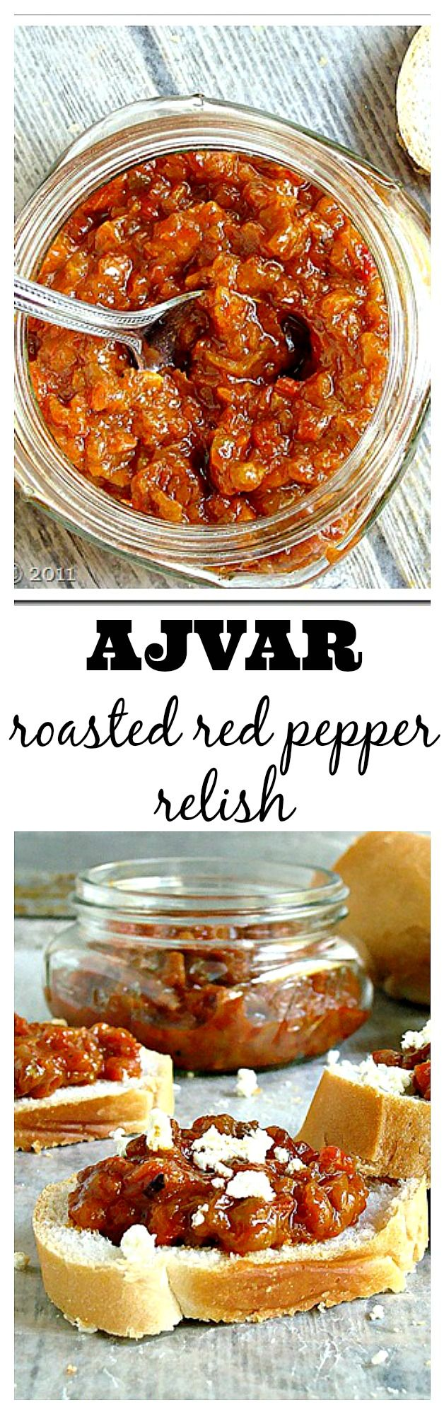 Ajvar (pronounced Ayvar) is an amazing red pepper spread from Macedonia. Get the recipe at diethood.com