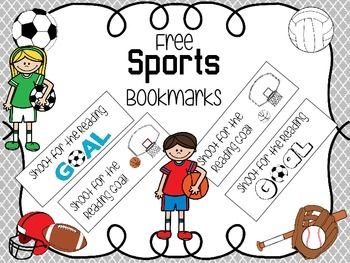 Free Sports Themed Bookmarks Bookmarks Sports Theme