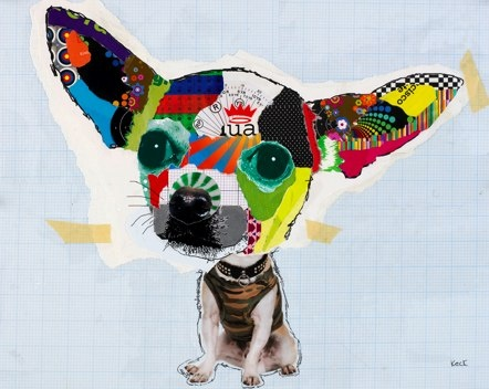 cuteMichele Keck, Shorts Hair, Collage Art, Art Prints, Dogs Art, Art Collage, Art Pop, Chihuahuas Art, Dogs Portraits