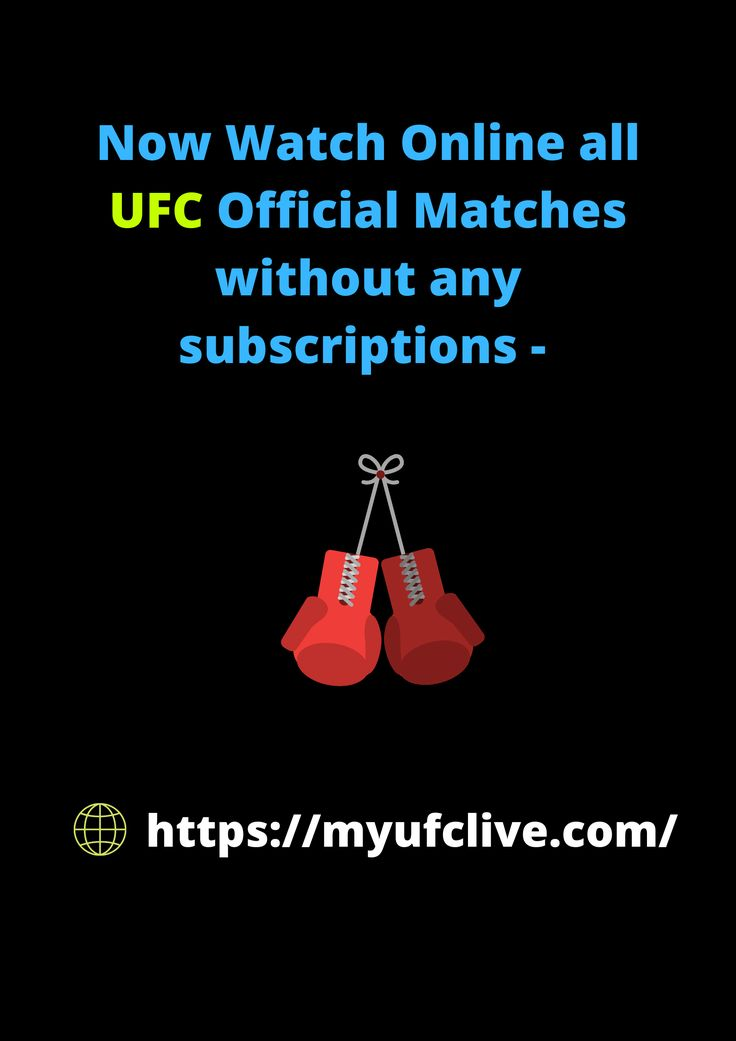 Now watch online all ufc official matches without any
