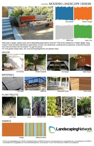 Inspiration Board For Modern Landscape Design Check Out A High Res Printable PDF