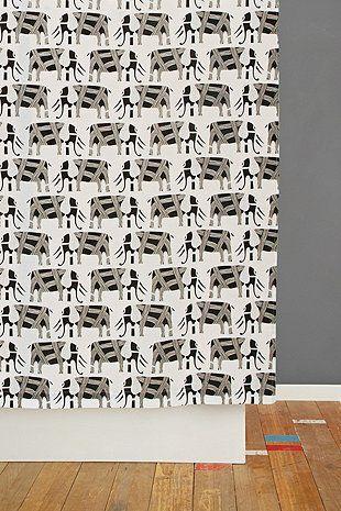 Rideau de douche à motif procession d'éléphants
