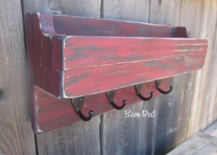 Mail+Holder+Key+Holder+Organizer+Distressed+and+Rustic+by+primd,+$28.99