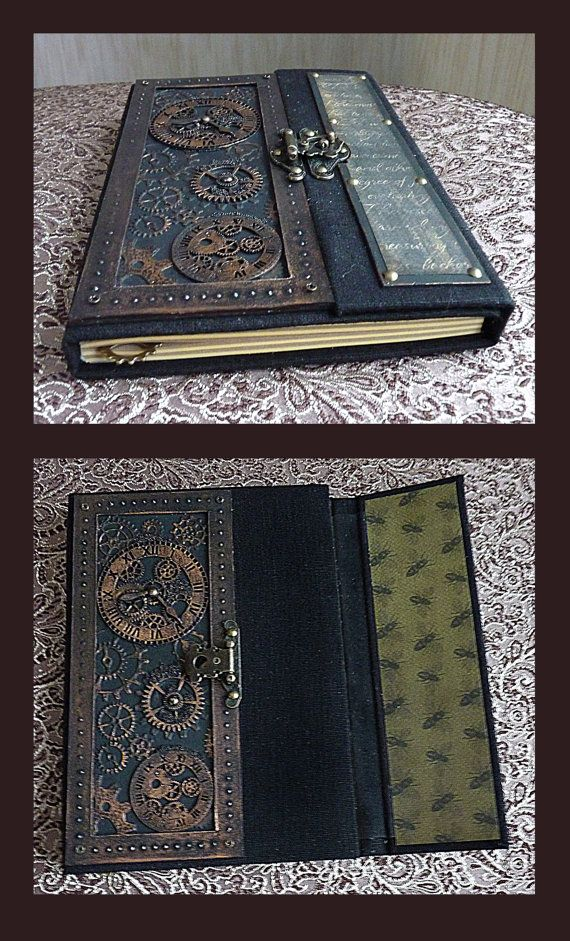 Steampunk book Steampunk notebook Steampunk art by steampunk2012