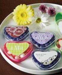 Personalized Heart Shaped Candy Containers