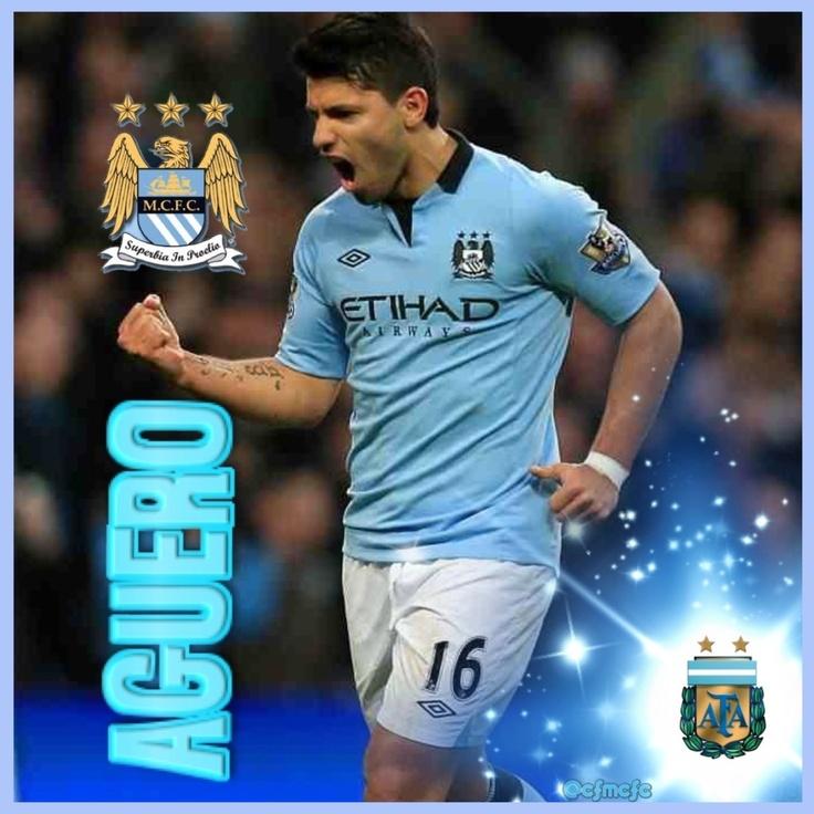 Sergio Aguero (Kun Aguero) Manchester City #mcfc