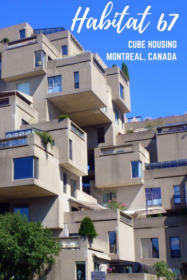 Habitat 67 Montreal | Cube Housing Complex | Montreal. Quebec, Canada | Unique Architecture