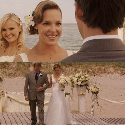 27 DressesWedding Dressses, Dreams Wedding Dresses, 27 Dresses, 27Dress, Wedding Movie, Wedding Hair Style, Movie Moments, Favorite Movie, Beach Wedding