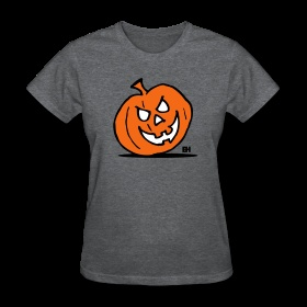 Jack-O'-Lantern, Halloween pumpkin Women's T-Shirts. #Spreadshirt #Cardvibes #Tekenaartje #Halloween