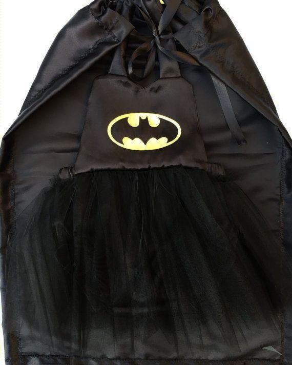 Batman costume batman cape halloween costume girl by PookieWear