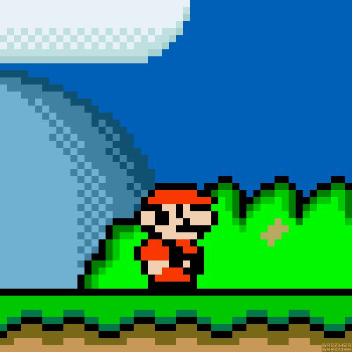 Mario Evolution: Donkey Kong to Super Mario World #GIF