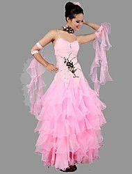 Accesorios(Rosa,Espándex Crepe,Danza Moderna Desempeño Baile de Salón) -Danza Moderna Desempeño Baile de Salón- paraMujerAplique