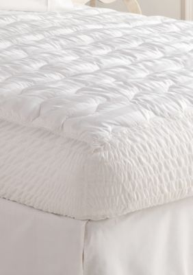 Biltmore  500 Thread Count Legacy High Loft Full Mattress Pad 53-In. X 75-In. - White - Cal. King