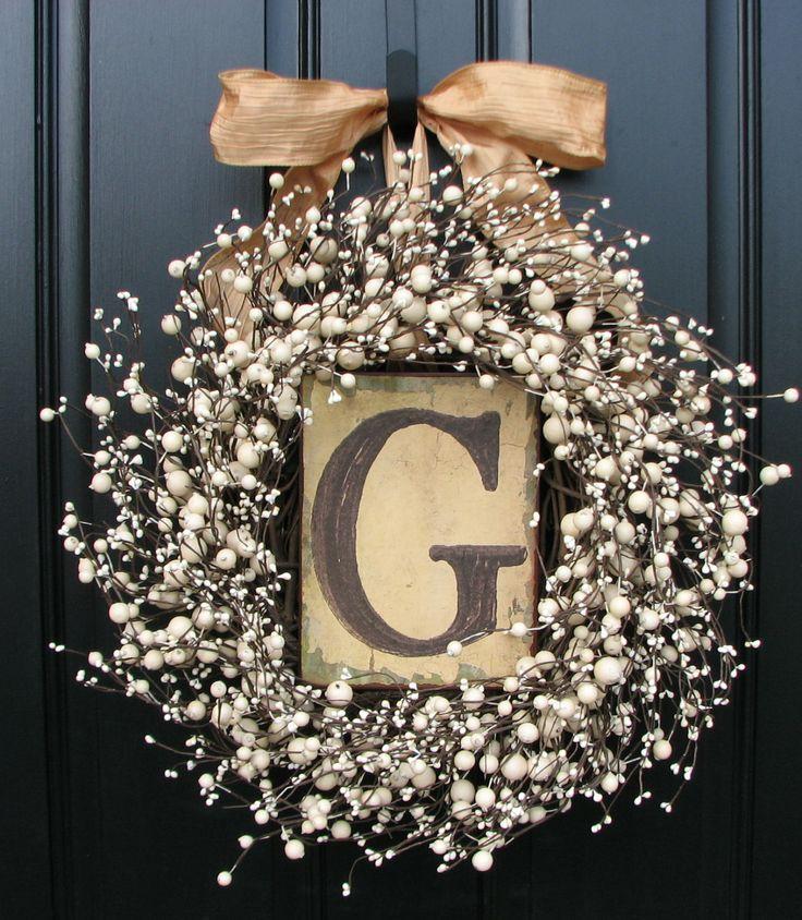 Wedding Wreaths Champagne Berry Wreath Vintage by twoinspireyou