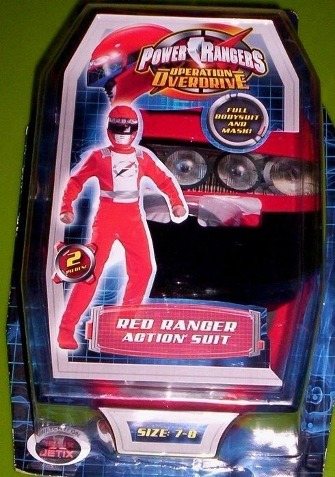Power Rangers Operation Overdrive RED Ranger Costume + Mask 7/8 NeW in Package #Disguise #CompleteCostume
