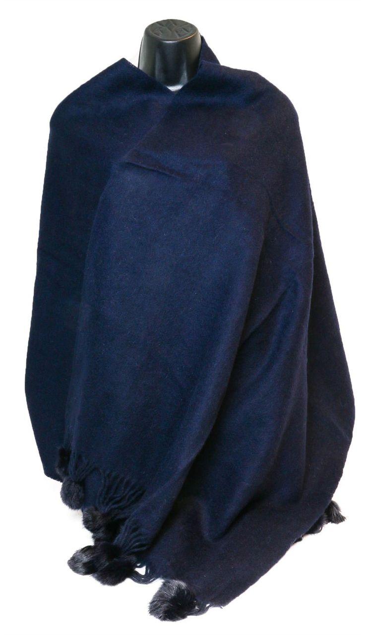 Mongolian Wool Scarf Poncho Shawl Wrap With Pom Pom: Amazon.co.uk: Clothing