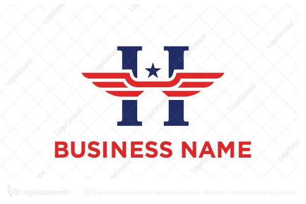 Logo For Sale Wings Letter H Logo Simple Letter H With Wings And