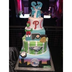 Sports Themed Cakes Philadelphia | Phillies and Eagles Cakes | Philadelphia Baseball Themed Cakes