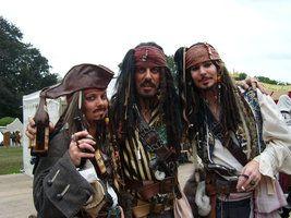 Three Times Jack Sparrow .... Captain Jack Sparrow Elf Fantasy Fair 2013 Arcen