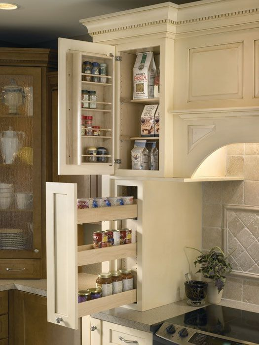 Design kitchen cabinets that will make every cabinet, even the small ones functional.